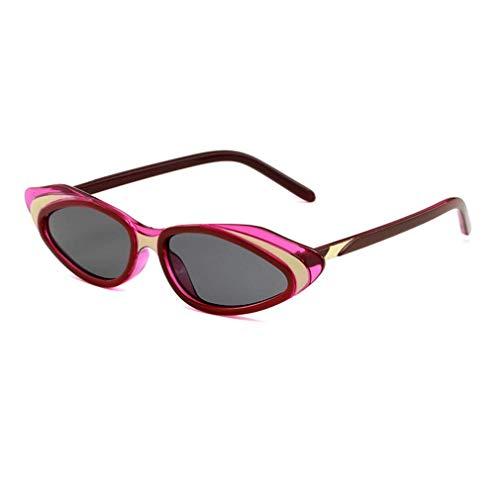 HQMGLASSES 2019 Frauen Vintage Retro kleinen Rahmen Designer cat Eye Sonnenbrille promi Shades Brillen bühne laufsteg Maskerade dekorative glassesuv400,PinkFrame/GrayLens