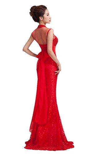 Beauty-Emily Damen Kleid Rot
