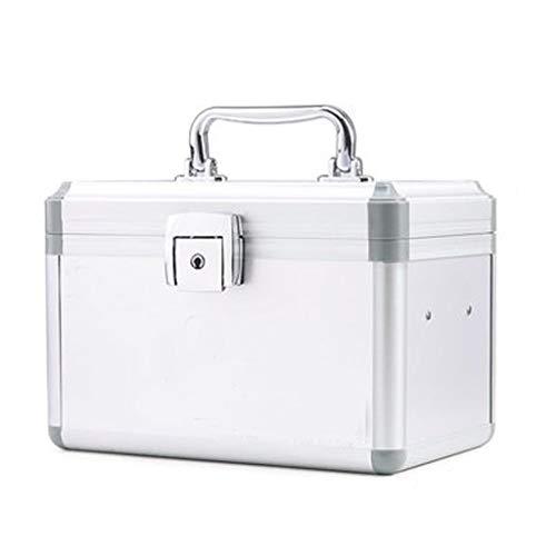 YQCSLS Staubaufbewahrung Erste-Hilfe-Box für zu Hause Kinder Große Kapazität Mehrschichtige Medizinbox Erste-Hilfe-Kit Reiseset Tragbar Kann schräg gestellt Werden (Farbe: Silber) -