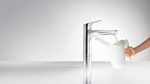 Hansgrohe – Waschbeckenarmatur, mit Ablaufgarnitur, QuickClean, EcoSmart, Chrom, Serie Focus 190 - 2