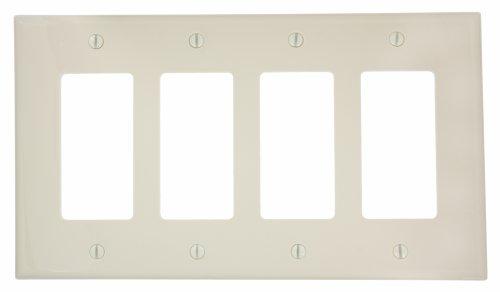 Leviton PJ264-A Wandplatte, 4-fach, Decora/GFCI, Midway