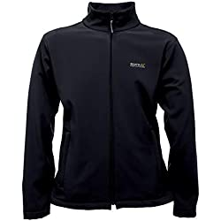 Regatta Men's Water Repellent Cera III Outdoor Softshell Jacket, Black, Large