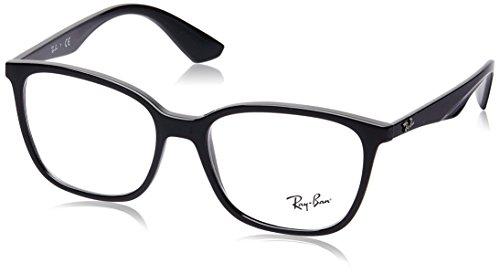 Ray-Ban Herren Brillengestell 0rx 7066 2000 54, Schwarz (Shiny Black)