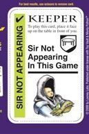 Monty Python Fluxx - Sir Not-Appearing Promo Card by Fluxx