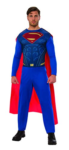 Fancy Ole - Herren Männer Männer Supermann Superman Kostüm, perfekt für Karneval, Fasching und Fastnacht, XL, Blau