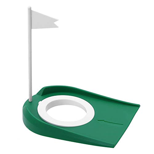 Dioche Golf Putting Cup, Indoor Outdoor Kunststoff Golf Putting Cup Praxis Hilfen mit Verstellbarer Loch White Flag -