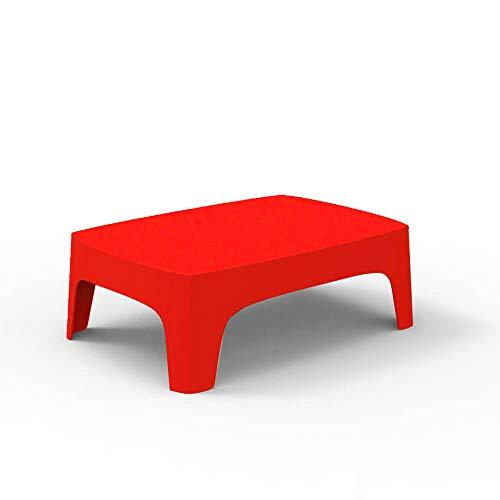 Vondom Solid Table Basse pour l'extérieur Rouge
