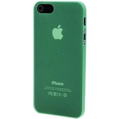 Wkae Case Cover 0.3mm Ultra Thin Polycarbonat Materialien PC-Schutz Shell für das iPhone 5 &5s &SE ( Color : Green ) grün