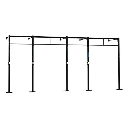 CAPITAL SPORTS Dominate W 580.110 Wall Mount Wandmontage Power Rack Gym Rig Cross-Training Functional-Training Double-Bar Single-Bar Klimmzugstange 407 x 270 x 110 cm (J-Cups 6 x Pull-Up 2 x Squat Station) Stahl schwarz