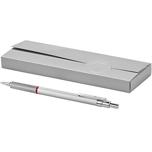 "ROTRING - ""Rapid Pro"" Chrom Kugelschreiber - Metall Druckkugelschreiber Hochwertig Geschenk - Silber"