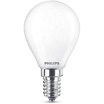 Philips Bombilla LED E14, 4.3 W equivalentes a 40 W en incandescencia, luz blanca cálida