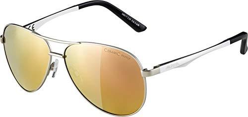 Alpina Unisex- Erwachsene A 107 Sonnenbrille, Silber, One Size