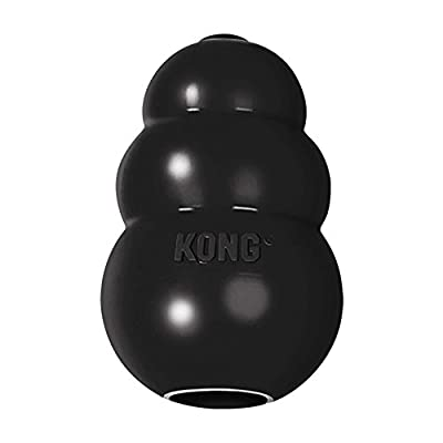 KONG - Extreme Dog Toy - Toughest Natural Rubber, Black - Fun to Chew, Chase and Fetch - For Small Dogs