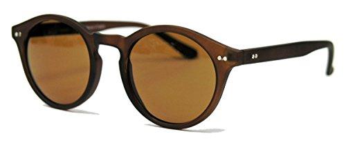 Retro Sonnenbrille 50er Jahre Vintage Look Pantobrille Hornbrille schwarz braun V60 (Matt Cognac)