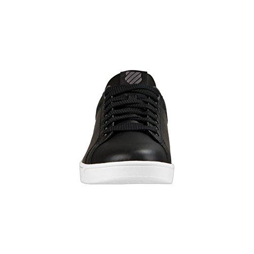 K-Swiss Clean Court Cmf, Sneakers Basses Homme Noir (Black/charcoal)