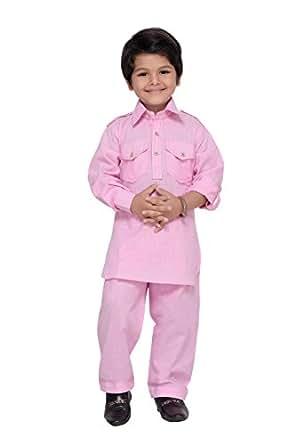 AJ Dezines Boys Pathani Suit for Kids (1201_PINK_1)