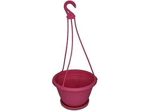 """Blumenampel \""""Color\"""" aus Kunststoff verschiedene Größen und Farben (Ø 25 cm, Pink)"""