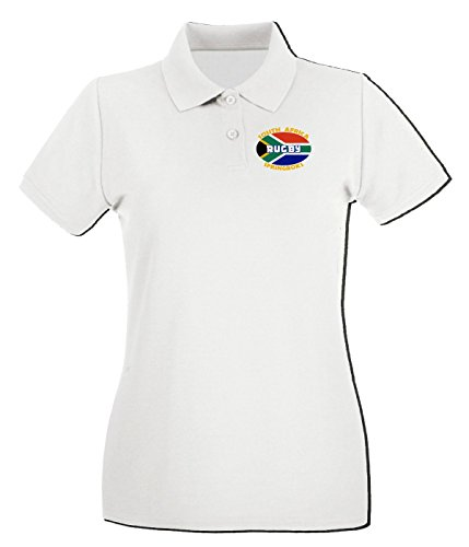 T-Shirtshock - Polo pour femme TSTEM0091 south africa white logo Blanc