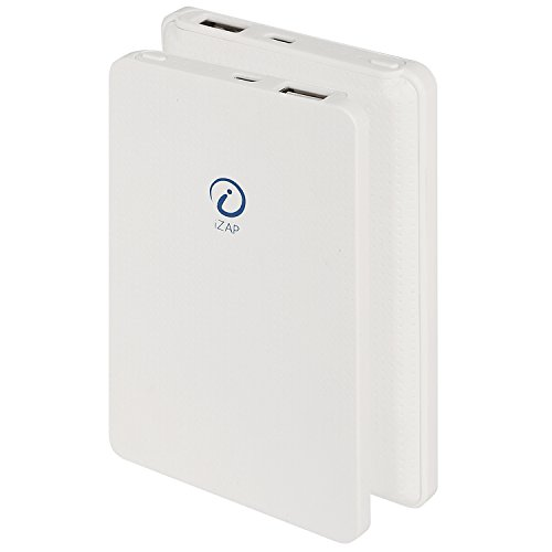 iZAP USB Portable Power Supply 5000mAh Li-Polymer Ultra Slim Power Bank for Apple iPhone Samsung HTC Sony Xiaomi Smartphone (White)  available at amazon for Rs.500