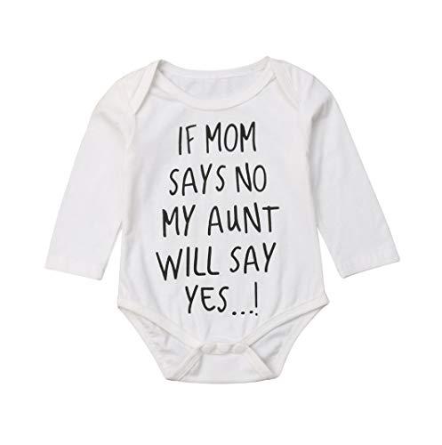 Folge deinem Herzen Neugeborenes Säugling Baby Junge Mädchen Lustiges Sprichwort Lange Ärmel Weiß Baumwolle Strampler (0-6 Monate)