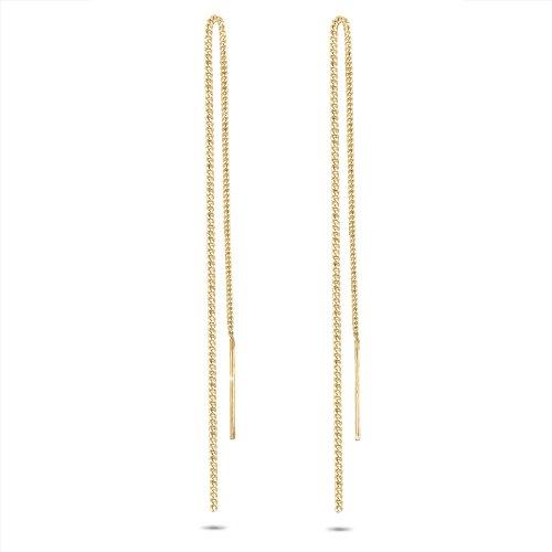 Elli Damen-Ohrhänger Kette Stab Elegant Trend Filigran Glamour 925 silber vergoldet