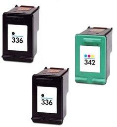 Prestige cartridge 3 x hp 336 / hp 342 cartucce d'inchiostro compatibile per stampanti hp photosmart/deskjet/officejet serie, nero/colore
