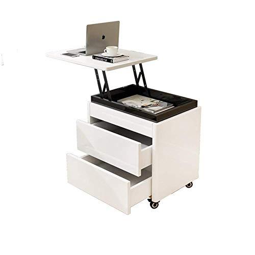 XINGZHE Nachttisch - weiße Eiche einfaches Schlafzimmer Multifunktionshub kleine Computer Schreibtisch weiße Klavierfarbe Nachttisch Lagerung grüne Möbel Nachttisch (Color : A) -