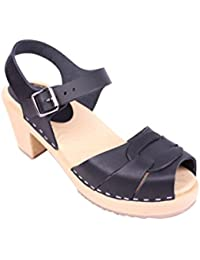 Lotta from Stockholm Sabots suédois : sabots-sandales en cuir noir