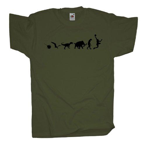 Ma2ca - 500 Mio Years - Basketballer Basketball T-Shirt Olive