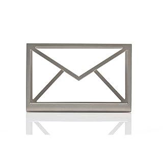Artori Design | Posteingang | Silberner Briefhalter aus Metall | Postorganizer | Kuvertförmiges Fach | Bürogeschenk