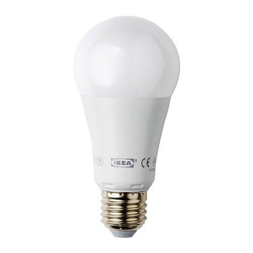 Ikea Ledare LED Bombilla E27; regulable; bola; opalweiß; 1000lúmenes