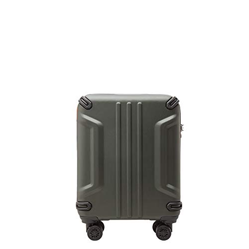 PACO MARTINEZ | Trolley valigia adventure 4 ruote verde militare rigida | Avventura bagaglio a mano | ABS e alluminio | 55x40x20cm
