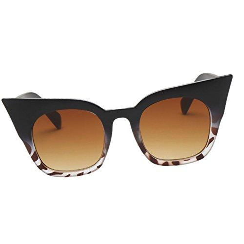 D DOLITY Sonnenbrille Uv400 Cat Eye Retro Look Brille Pilotenbrille Vintage Sonnenbrille 7...