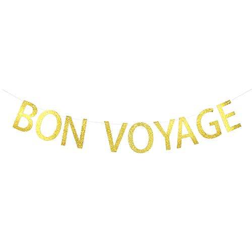 WeBenison Bon Voyage - Travel Banner Abschied Party Wimpelkette Schild Retirement Party Dekoration Supplies