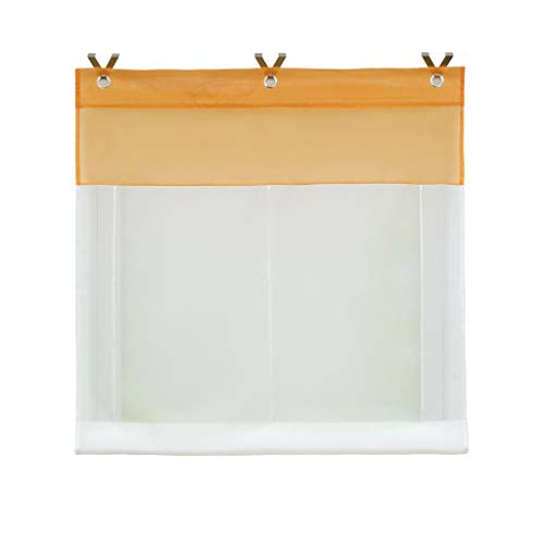 Joyswahl voile tenda avvolgibile con ganci sospensione, senza forare » edelgard « scialle finestra tenda 1er pack, poliestere, orange, bxh 60x165cm