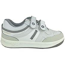 Zapatillas de piel deportivas Paredes hombre color blanco modelo estrella Talla 48