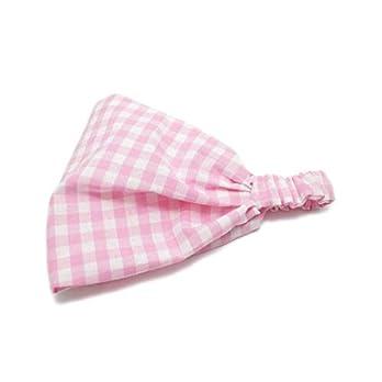 Bandana Kopftuch Baby Mädchen rosa kariert Kinder