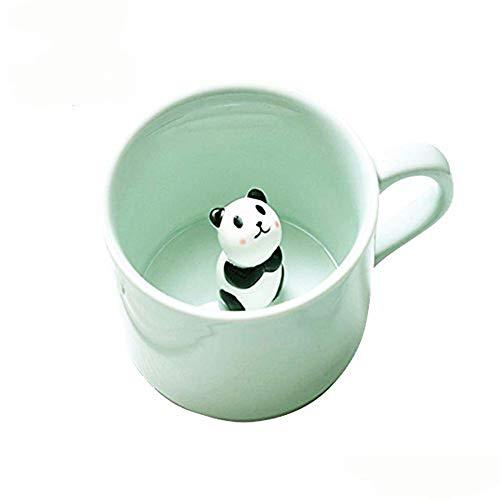 BigNoseDeer Kaffee-Milch-Tee-Keramik-Becher - 3D Tier-Morgen-Schale Morgengetränk und Hochzeiten, Geburtstage, Vatertag (Panda)