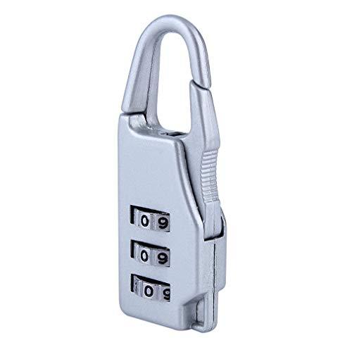 RoadRoman Sicherheit 3 Kombination Reise Koffer Gepck Tasche Code Lock Zipper Vorhngeschloss