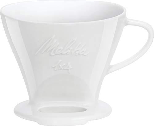 Melitta 219025 Filter Porzellan Kaffeefilter Größe 1x4 Weiß -