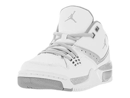 Nike Jordan Kids Jordan Flight 23BG Basketball Schuh, Weiß - White/Mtllc Silver/Mtllc Slvr - Größe: 37 EU M Großes Art (Basketball Große Kinder Nike)