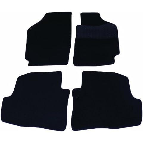 Sakura - Set di tappetini con talloniera in gomma per VW Fox, modelli dal 2006 in poi, colore: Nero - Vw Fox