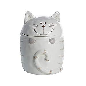 Chat motif boîtes de rangement avec couvercle les bocaux en céramique blanc tout type de contenant pour à café thé, objet décoratifs cuisine, cadeau pour les amoureux de chats