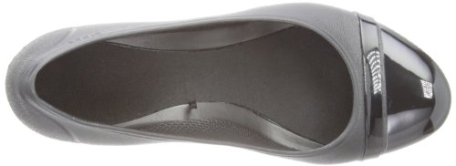 Crocs Cap Toe Wedge, Damen Pumps Schwarz (Black/Black)