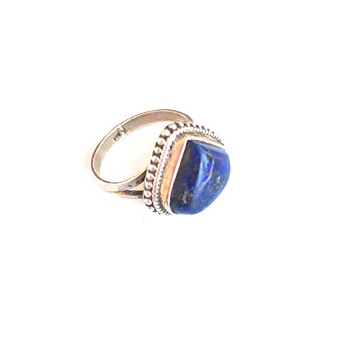 63a717ffc46b Ethnos Barcelona - Silver and lapis lazuli ring. Size  P 18mm Ø)