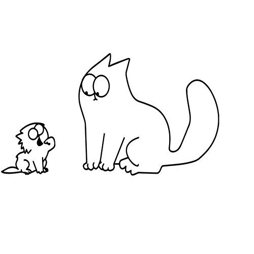 XCGZ Wandtattoo Cartoon Katzenfutter Auto Aufkleber Motorrad Applikation Kätzchen Wandaufkleber -
