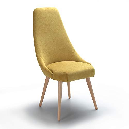 Alkove, sedia decorativa modello Albert, colore giallo
