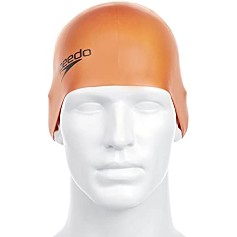 Speedo Silc Moud Cap Au - Cuffia, Colore Arancione (Orange)