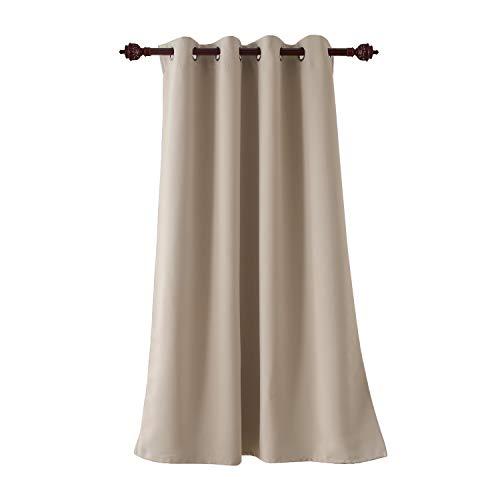 Deconovo tenda oscurante termica per interni tenda oscurante con occhielli 100% poliestere 140x180 cm beige chiaro