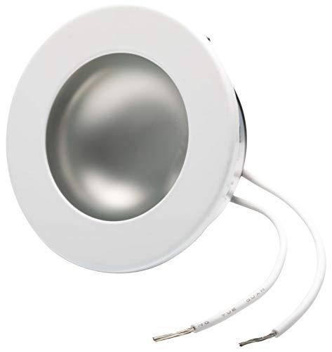 Unterputz-leuchte (2in1 Einbaustrahler G4 12V - Vollmetall weiß-lackiert - passt in Schalterdose 60mm - Glasabdeckung matt + klar - Einbau Ø 60x21mm)